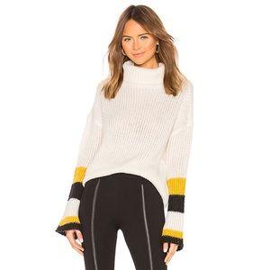 Lovers + Friends Cisco Sweater in Ivory & Black